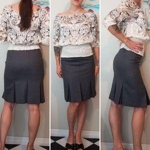 Ted Baker London Skirts - Ted Baker London gray pleated pencil skirt
